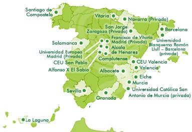 Mapa de estudios de farmacia